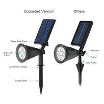 Alpexe - Spot solaire extérieure de Toute Nouvelle Version. Luminosité supere avec 4pcs lampe Led de 0.5W. Adopte la plastique dure solide,ce spot solaire extérieur est waterproof et convenable pour l'utilisation extérieure. Lumière adjustable et panneau solai