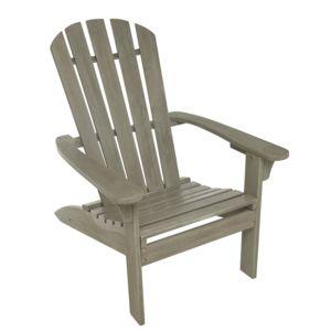 carrefour fauteuil adirondack bois gris c rus pas cher achat vente fauteuil de jardin. Black Bedroom Furniture Sets. Home Design Ideas