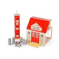 Tidlo - Wooden Fire Station Set