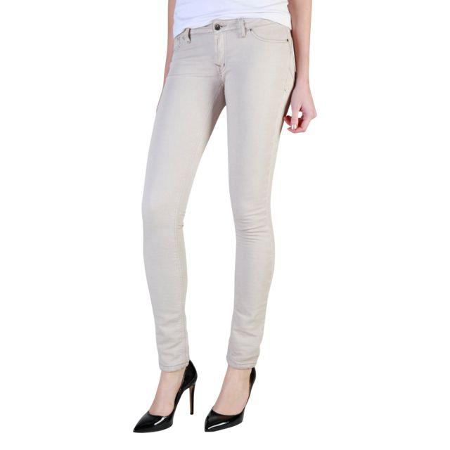 Buzzao - Jean slim fit taille basse femme écru - Carrera Jeans - pas ... 5fdb99fe3bfe