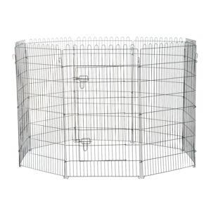 pawhut parc enclos pour chiens chiots animaux domestiques diam tre 158 cm 8 panneaux 71l x. Black Bedroom Furniture Sets. Home Design Ideas