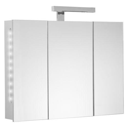 allibert armoire de toilette twilight 80 cm blanc pas cher achat vente meuble haut salle. Black Bedroom Furniture Sets. Home Design Ideas