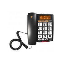 Topcom - Téléphone Filaire Mains libres Sologic A801 Noir Ts-6651