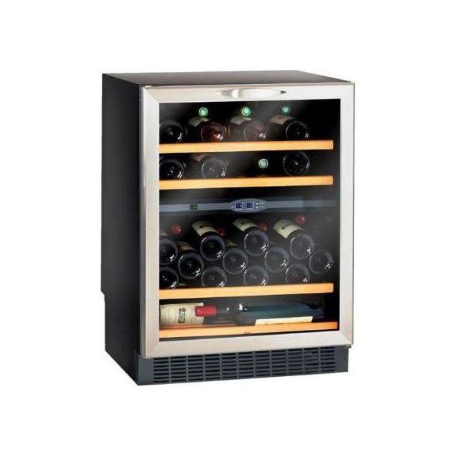 Climadiff Cave à vin de service - 2 temp 50 bouteilles - Noir Aci-cli473E - Encastrable