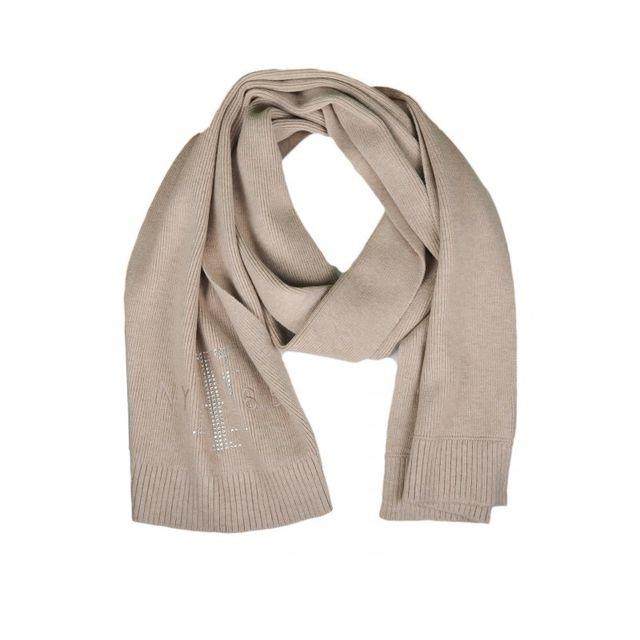 Tommy Hilfiger - Echarpe strass beige pour femme - pas cher Achat   Vente  Echarpes, foulards - RueDuCommerce 5754454b2a2