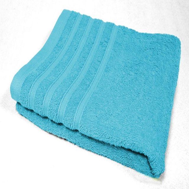 Decoline Serviette de toilette 90 x 150 cm bleu turquoise
