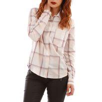 A Carreaux Chemise chemise Rose Femme Country Fc1KJl