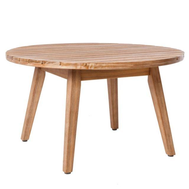 Ma Maison Mes Tendances Table de salon de jardin en acacia massif Murcia - L 70 x l 70 x H 40