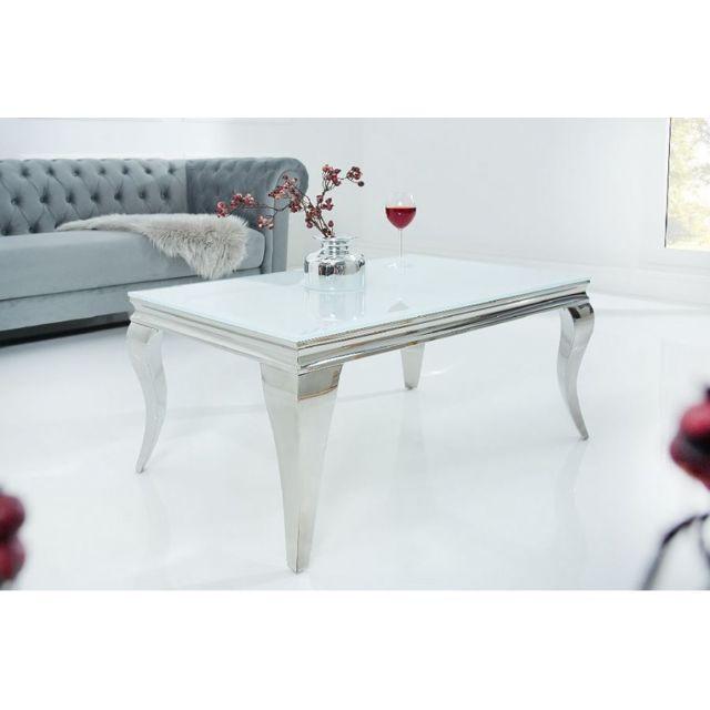 CHLOE DESIGN Table basse design OPAL - argent