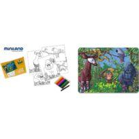 Generic - Miniland 36023 - Puzzle Lebensraum Dschungel Afrikas 56 Teile 42 X 31 Cm