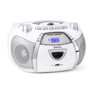 auna beeboy poste radio st r o cd mp3 usb blanc pas cher achat vente sonorisation. Black Bedroom Furniture Sets. Home Design Ideas