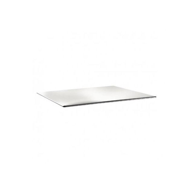 Topalit Plateau de table rectangulaire 1200 x 80 mm blanc pur - Smartline - Blanc 1200 mm