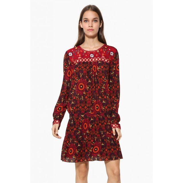 Desigual Robe Rosi Rojonanja Rouge 17wwvw42 Taille 42 Pas Cher Achat Vente Robes Rueducommerce