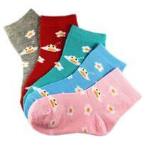 Marque Generique - Modebas.fr - Pack de 6 Paires Chaussettes Assorties Fille Coton Motifs Fleurs 31-34 - Assortie