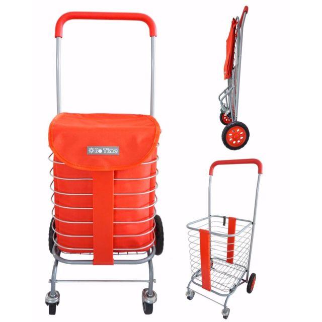 bo time chariot de courses pliable en m tal 4 roues qualit fiable pour une longue dur e. Black Bedroom Furniture Sets. Home Design Ideas