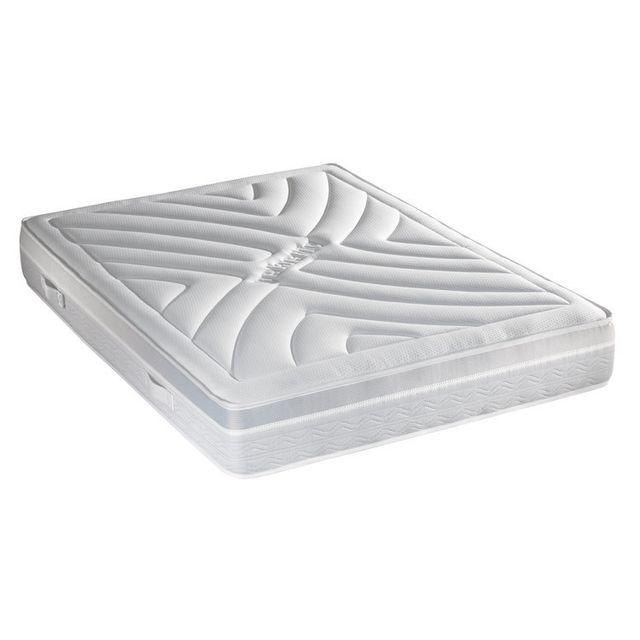 Crown Bedding Matelas mousse polyuréthane haute densité et mousse de gel profilée Heroic - Sans sommier - 140x190cm