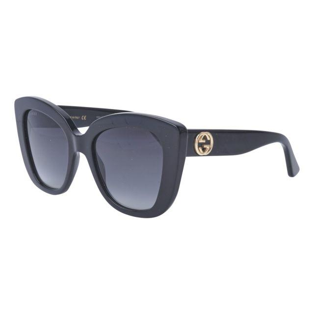 Gucci - Lunettes de soleil Gg-0327-S 001 Femme Noir - pas cher Achat   Vente  Lunettes Tendance - RueDuCommerce 98e3edfcda3f