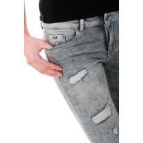 Jeans gris femme kaporal