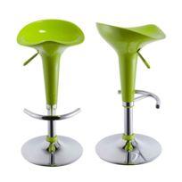 6b6b07a6060e5a New Art - Tabouret de bar Jazz vert anis - lot de 2 - pas cher Achat ...