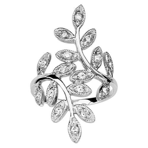 sochicbijoux so chic bijoux bague femme feuilles arbre vie oxyde de zirconium blanc argent. Black Bedroom Furniture Sets. Home Design Ideas