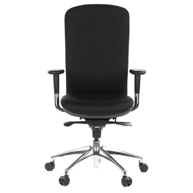 Hjh Office Siège de bureau / Fauteuil de direction High-tec tissu noir