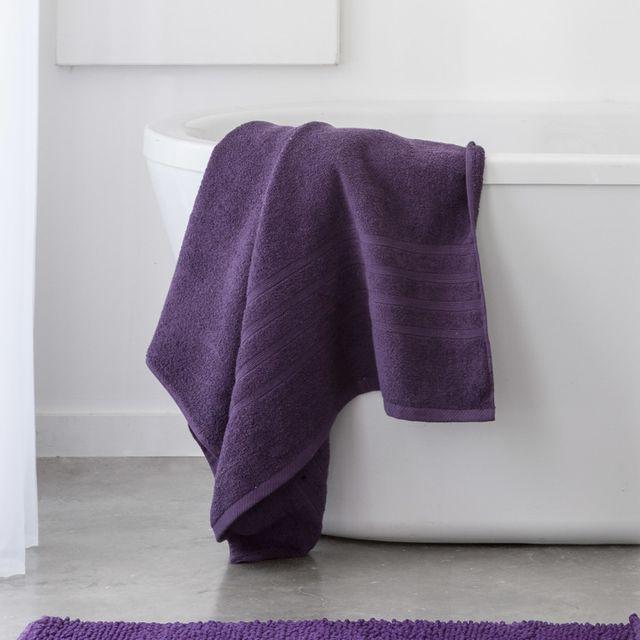 Today Maxi drap de bain 100% coton 500 gr/m2 90x150cm Cocoon - Violet