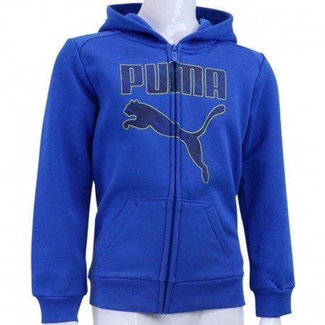 aa0d0e95f13c3 Puma - Sweat zippé Hooded Sweat Bleu Garçon Multicouleur - 6 - pas ...