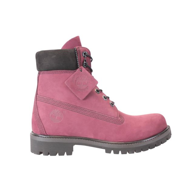 Timberland 6in Premium Boots Rouge Pas Cher Achat Vente