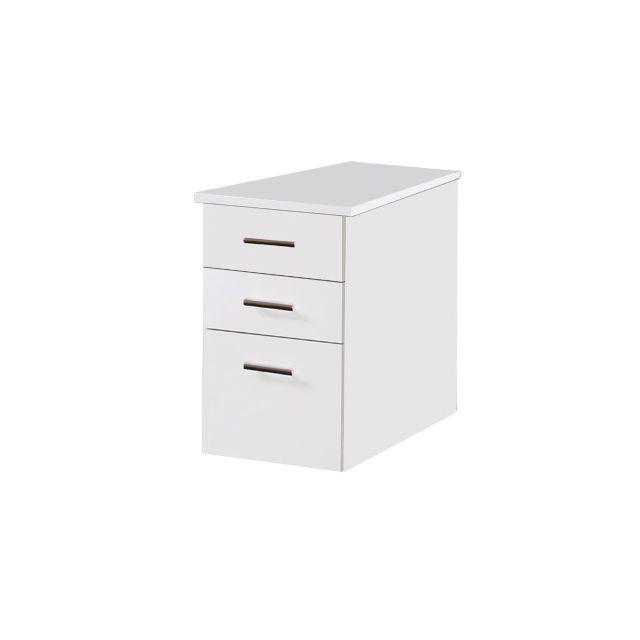 Caisson bout de bureau professionnel 47x80 cm coloris blanc
