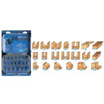 ISOCELE - COFFRET ALU DE 20 MECHES CARBURE QUEUE DE 8 MM 428.700.20