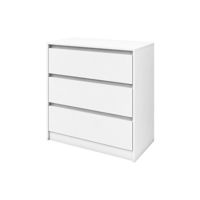 MAO Commode de chambre - Contemporain - Blanc mat - L 80 cm