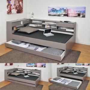 no name lit combin 90x190 cm tag res tiroir sommier lattes bois sapin cornimont. Black Bedroom Furniture Sets. Home Design Ideas