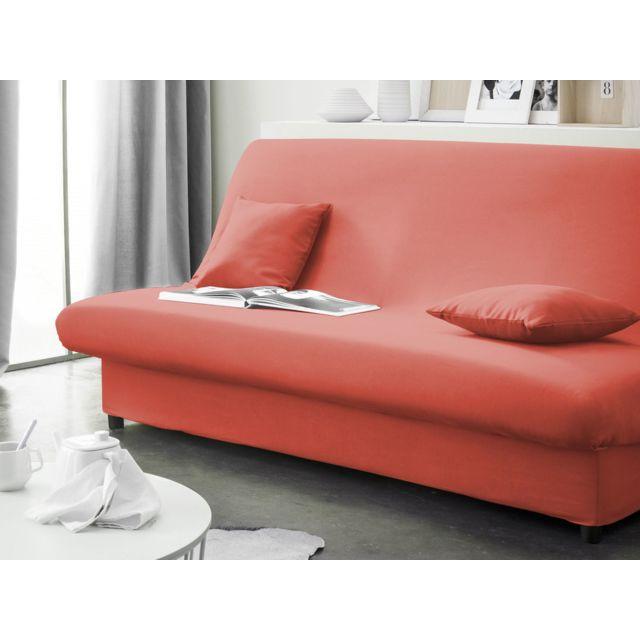 d6aa7bfdd85c25 Today - Housse de clic-clac 135x195cm en polyester orange avec bachette  Aktuelle