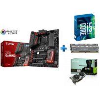 MSI - Carte mère Z270 GAMING M7 Socket 1151 - Chipset Z270 Kabylake + Processeur Intel Core i5-7600K 3.80GHz LGA1151 - KABYLAKE + Ballistix Sport LT 16 Go 2 x 8 Go DDR4 - 2400 Mhz - CAS 16 + GeForce GTX 1060 OC 6Go DDR5 192bit DP 1.4, HDMI 2.0b, Dual Li