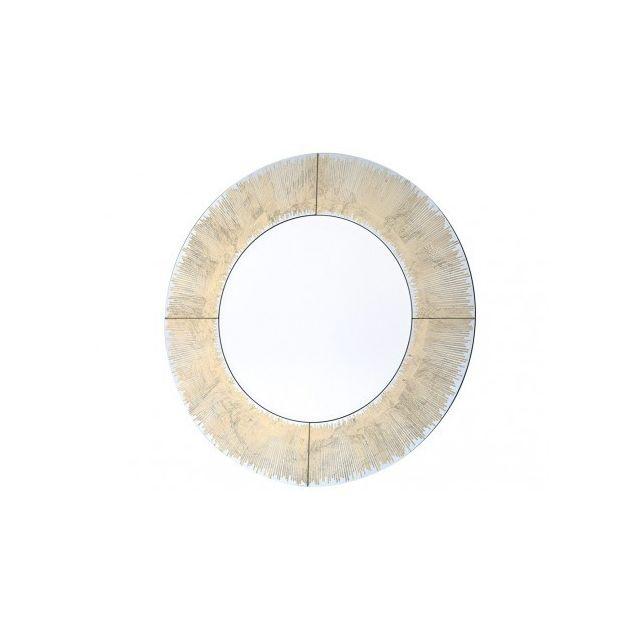 Marque Generique Miroir rond Gulliver - D.80 cm - doré