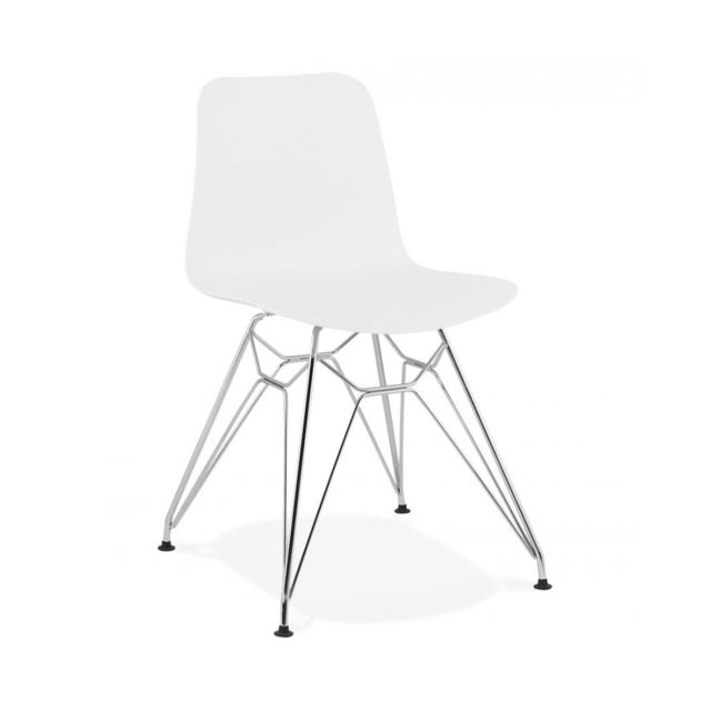Chaise design Fifi White 47x49x83 cm
