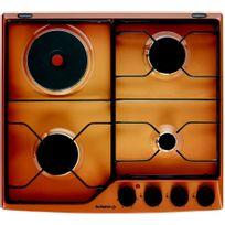 DE DIETRICH - table de cuisson mixte émail 4 feux sable doré brilliant - dpe7610f