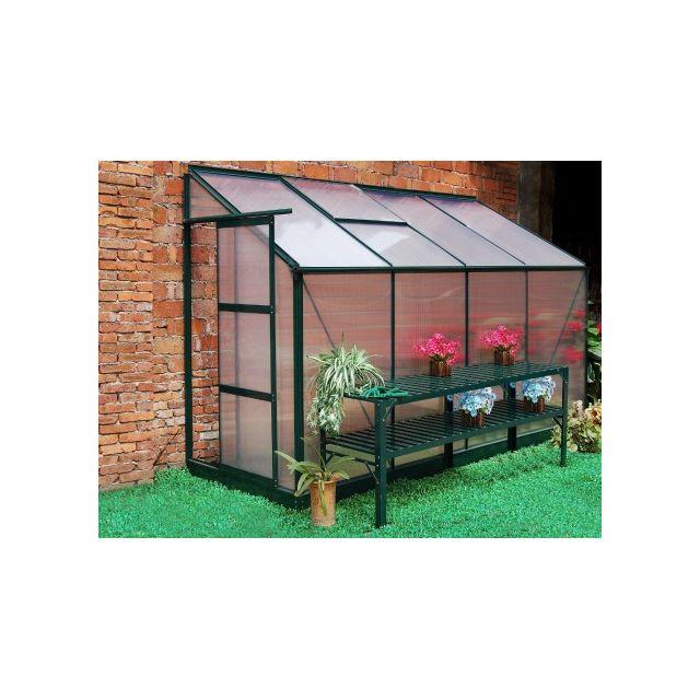 Marque generique serre de jardin adoss e en - Serre de jardin en verre pas cher ...