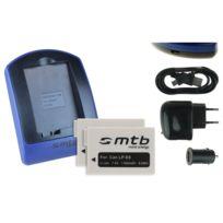 mtb more energy® - 2 Batteries + Chargeur USB, Lp-e8 pour Canon Eos 550D, 600D, 650D, 700D