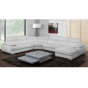 marque generique canap panoramique 7 places en cuir. Black Bedroom Furniture Sets. Home Design Ideas