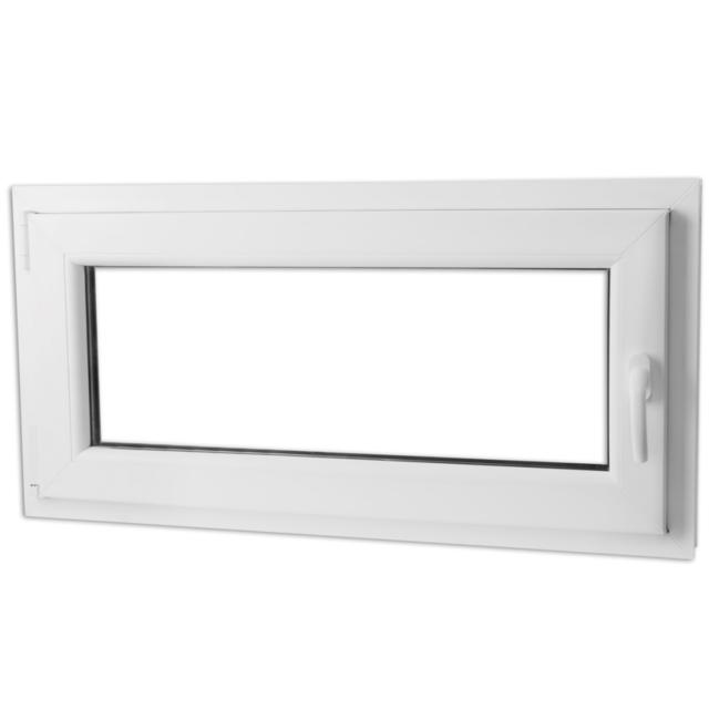 Vidaxl - Fenêtre Pvc triple vitrage oscillo-battante poignée à droite 800x400mm