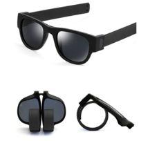 Wewoo - Lunettes de soleil noir pour Hommes   Femmes Mode Crimp Pliage  Miroir Pops Lunettes 36b1524fdae5