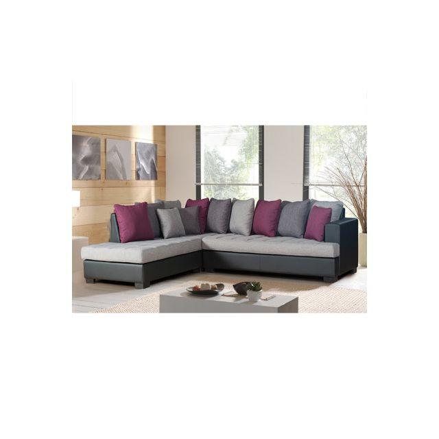 Canapé d'angle à gauche gris exotique Paros