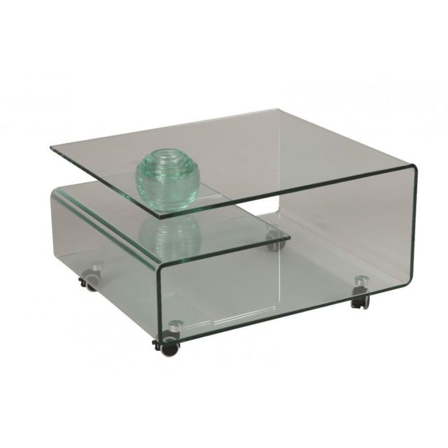 Inside 75 Table basse Cristallin en verre