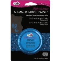 Tulip - 28967 Peinture Scintillante Pour Tissu 1 Pot De 51,6 Ml Couleur Bleu