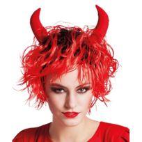 Boland B.V. - Perruque rouge courte avec cornes de diable