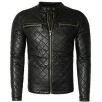 Jeansnet - Veste imitation cuir homme Veste noir Jnst473