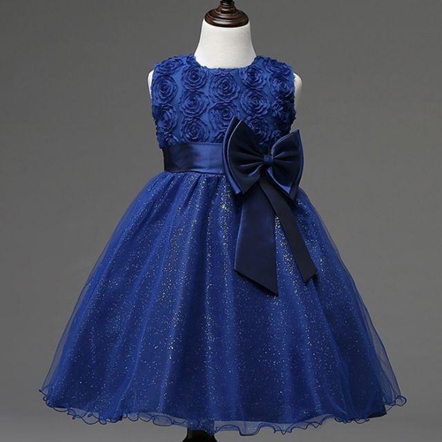f5a7717333d Wewoo - Robe enfant rose et bleu Fille Enfants Bow-tie Ball demoiselle d