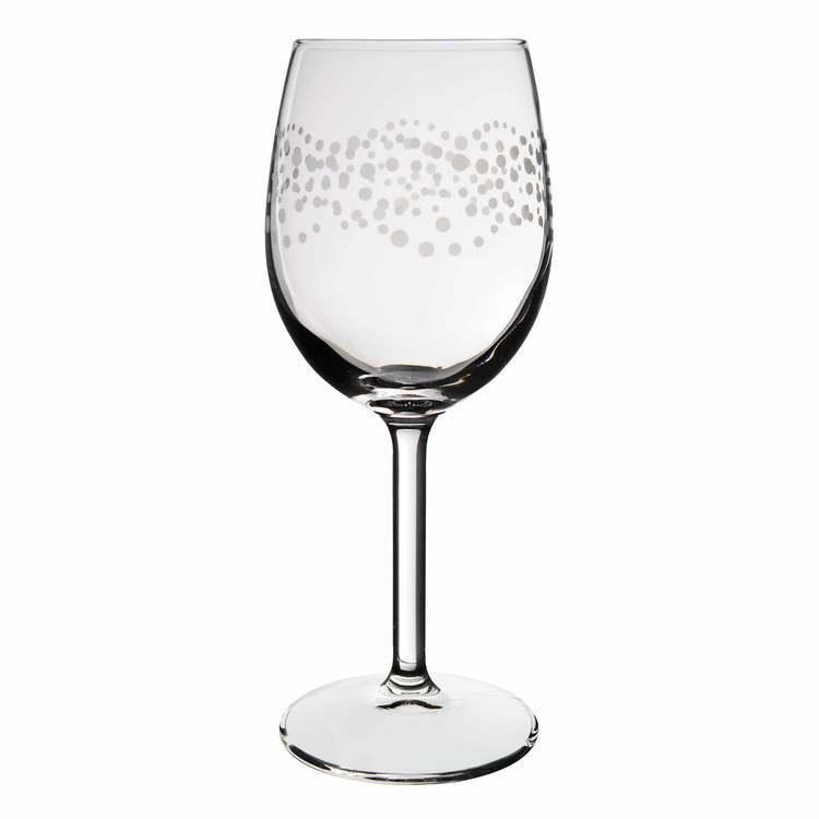 Verre à pied en verre transparent et motif bulles 24cl - Lot de 4 Bastide