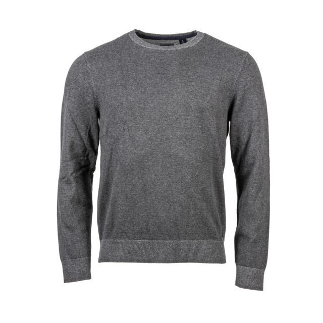 Dockers Pull col rond en coton gris anthracite